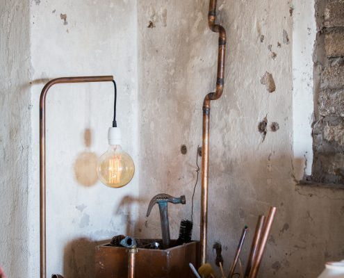 Lampa przykręcana do blatu Tuben Watt&Veke