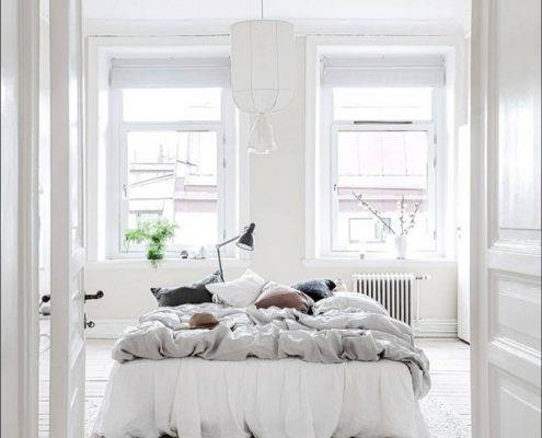 Abażur wiszący Round w sypialni