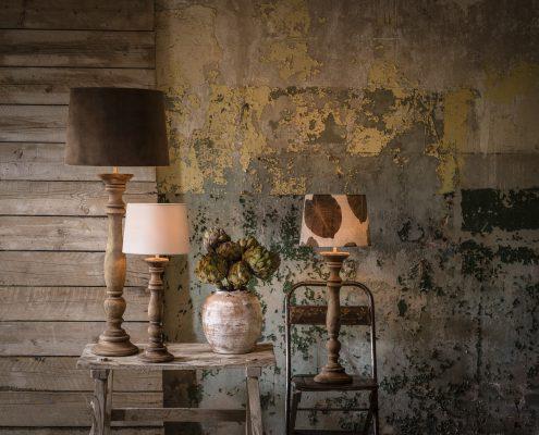 Drewniane lampy stolowe vintage PR Home