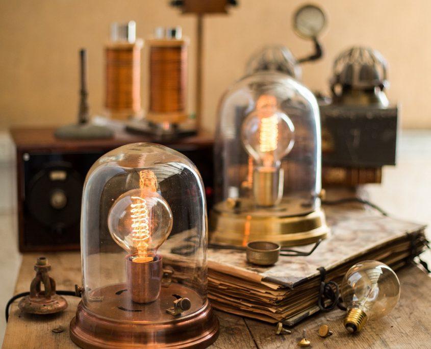 Industrialna lampa stołowa Edison Watt&Veke
