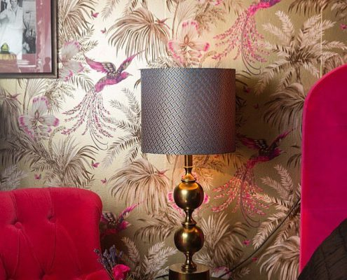 Klasyczna lampa stołowa Deborah mosiądz Watt&Veke