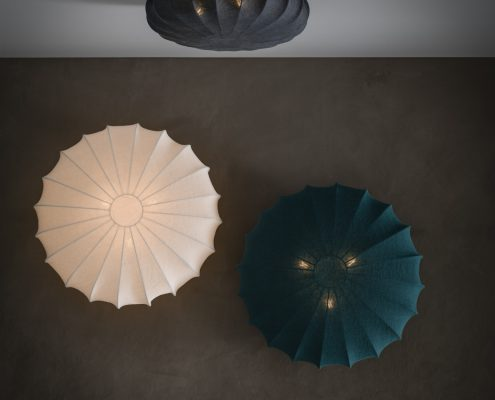 Plafony lampy sufitowe tekstylne Stonewash