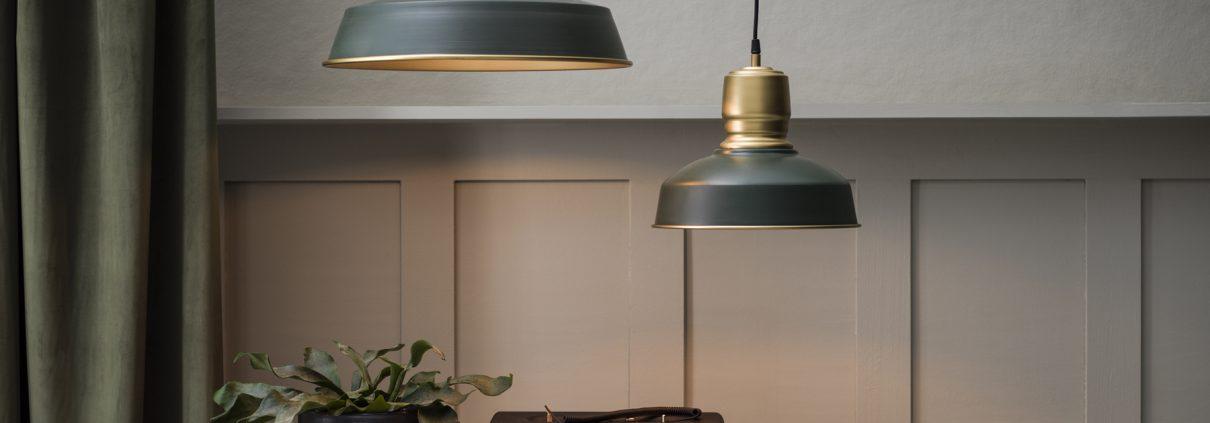 Lampa wiszaca Paddington matowa zielen vintage