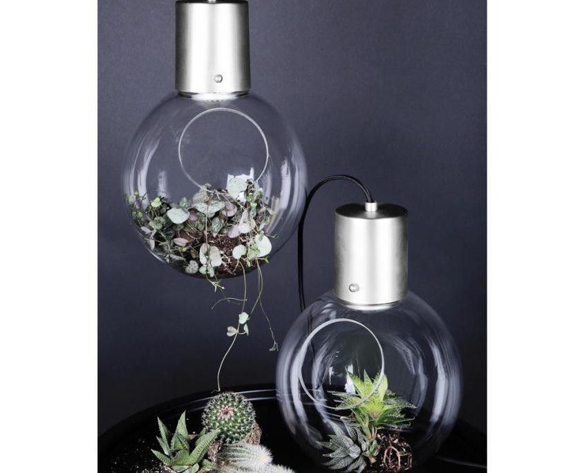Dekoracyjne szklane lampy wiszace Mini Hole Globen Lighting