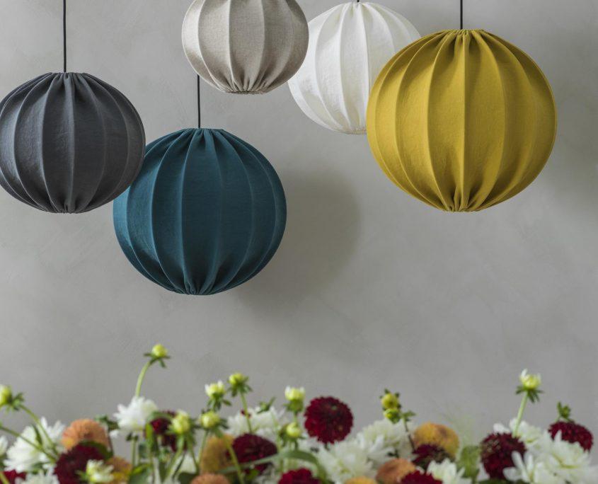 Kolorowe lampy wiszace abazurowe Ball