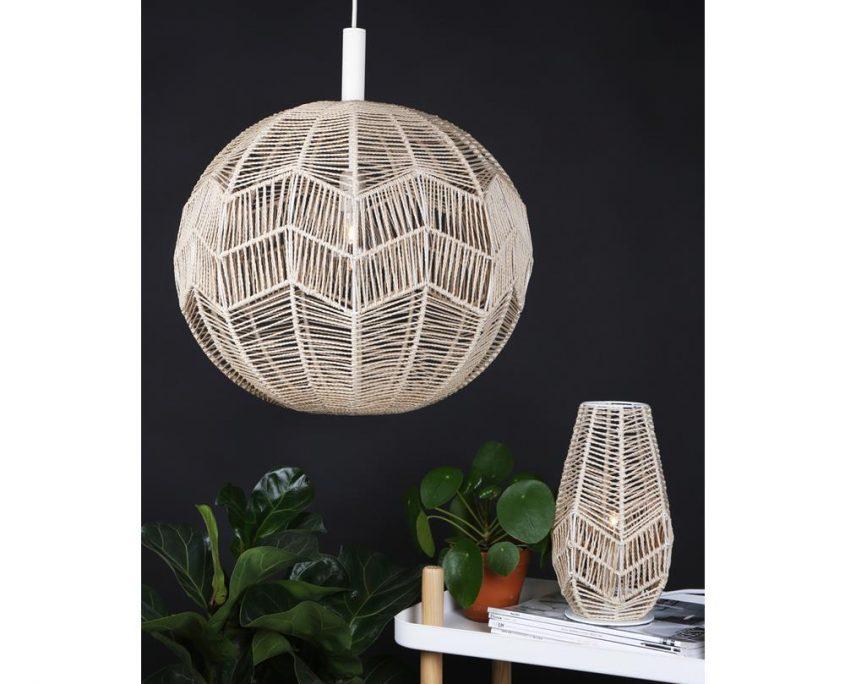 Lampa wiszaca wiklinowa kula Missy Globen Lighting