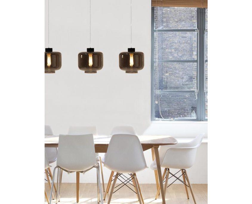 Lampy wiszace Ritz przyciemniane szklo Globen Lighting