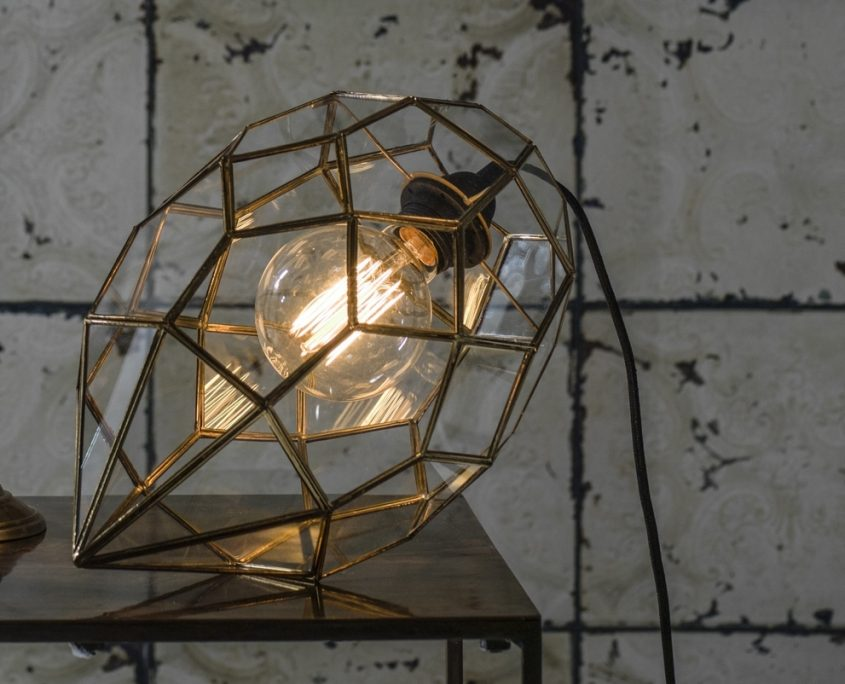Szklana witrazowa lampa wiszaca Emerald PR Home