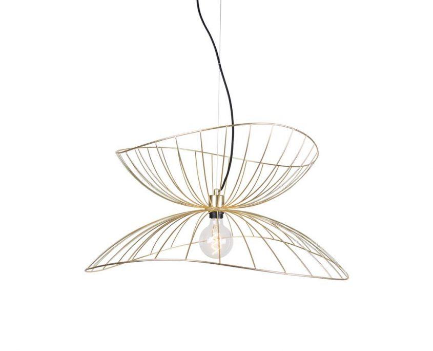 Wiszaca lampa z drutu Ray mosiadz Globen Lighting