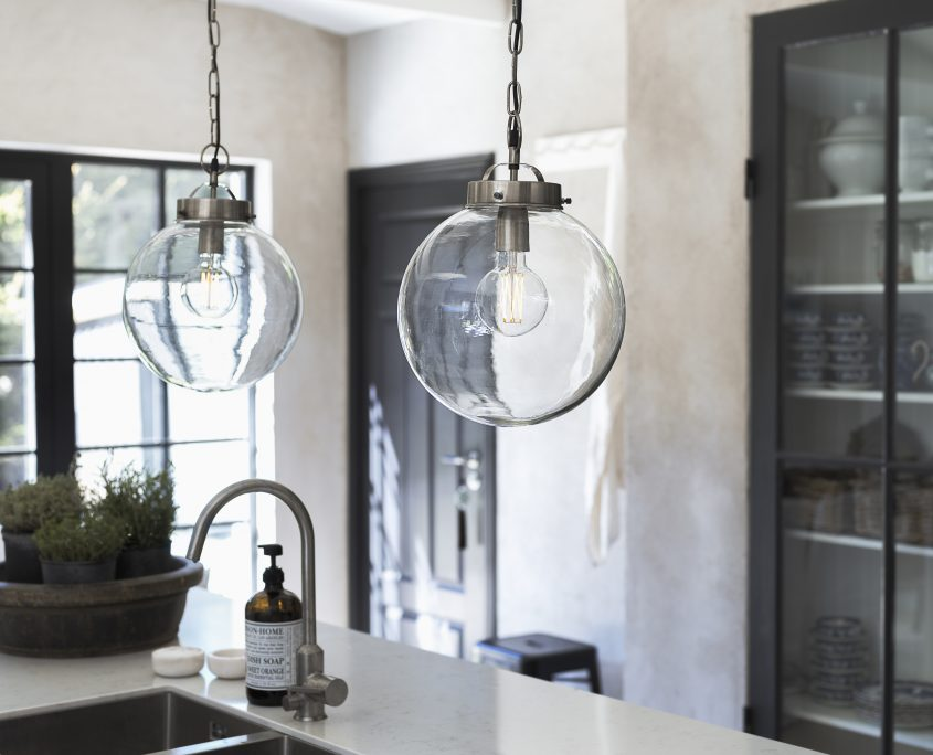 Lampa szklana kula Bretagne PR Home