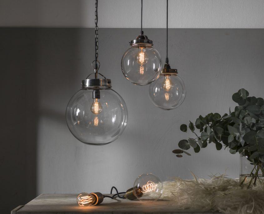 Lampy szklane kule Bretagne