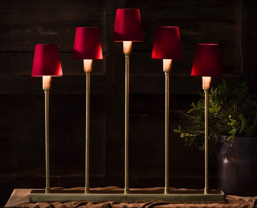 Lampa swiateczna swiecznik z abazurami PR Home
