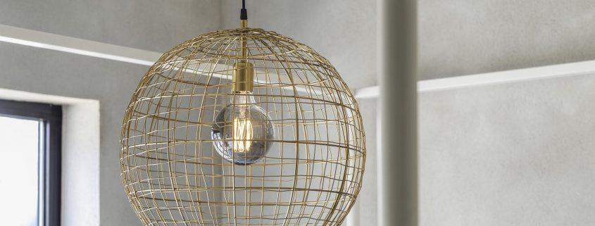 Lampa z drutu Corby PR Home blog