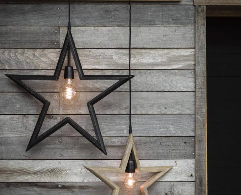 Lampy gwiazdy drewniane PR Home