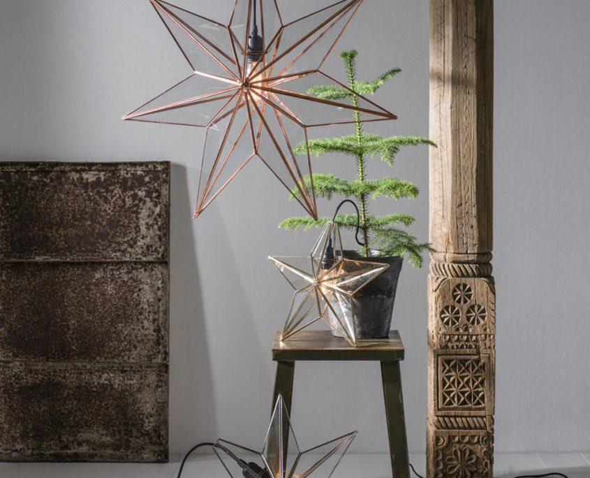Szklane lampy swiateczne PR Home