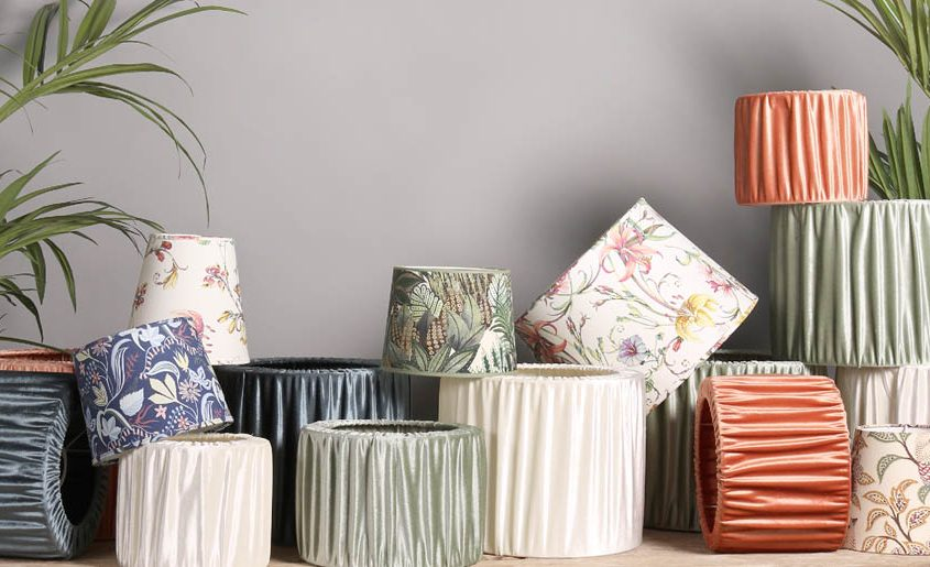 Kolorowe abazury z aksamitu PR Home