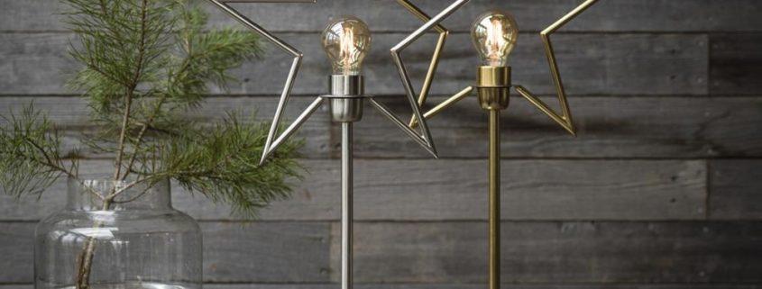 Metalowe lampy gwiazdy PR Home