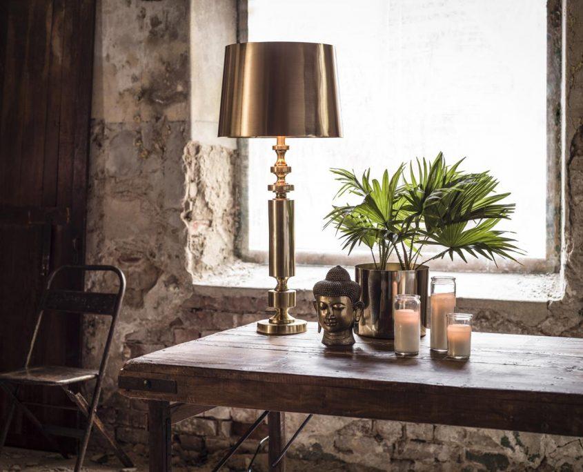 Zlota lampa art deco PR Home