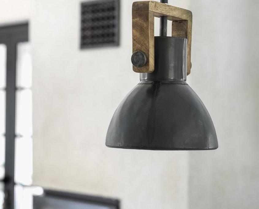 Lampa wiszaca Ashby vintage PR Home metal drewno