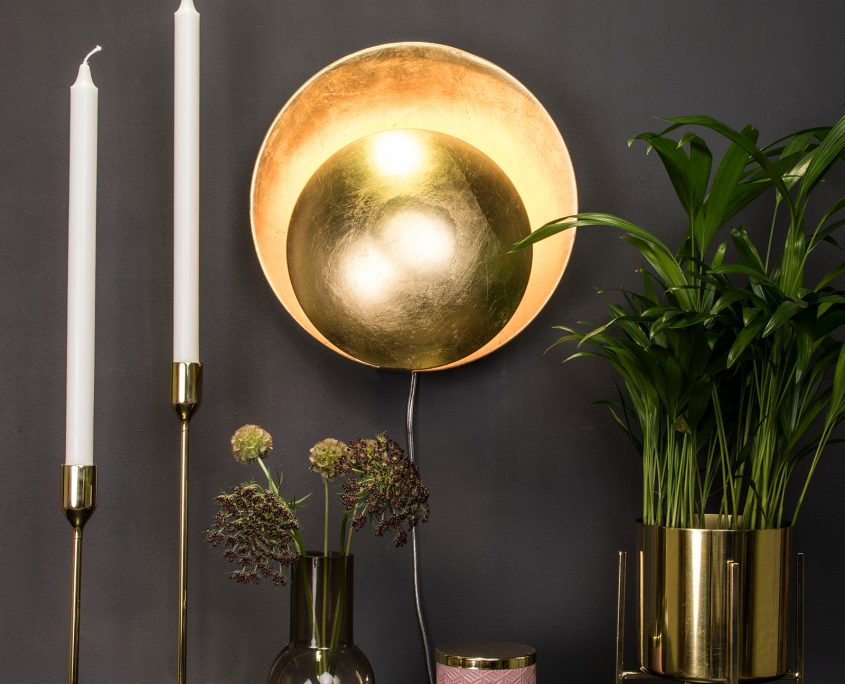 Nowoczesny zloty kinkiet Orbit Globen Lighting