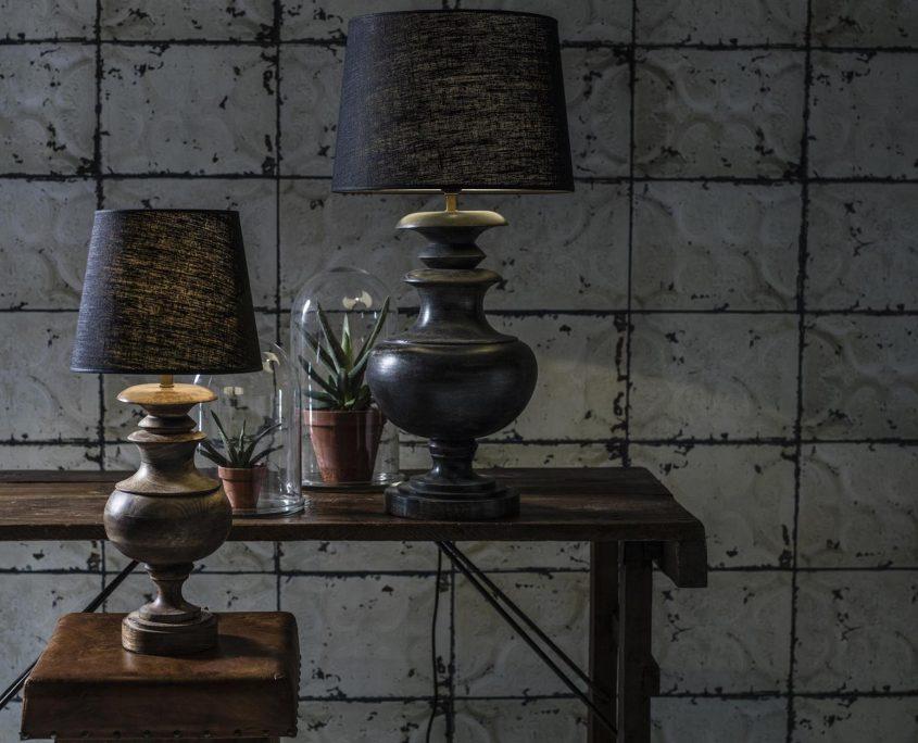 Lampy stolowe drewniane etno Ebba PR Home