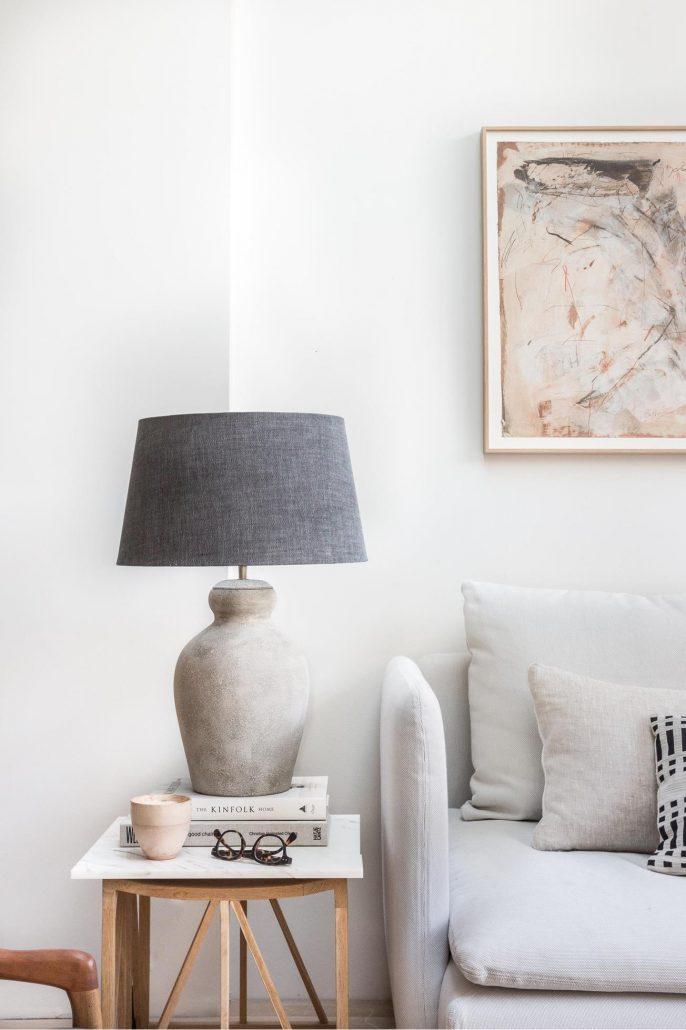 Lampa stolowa z terakoty Ellen boho marki Watt&Veke