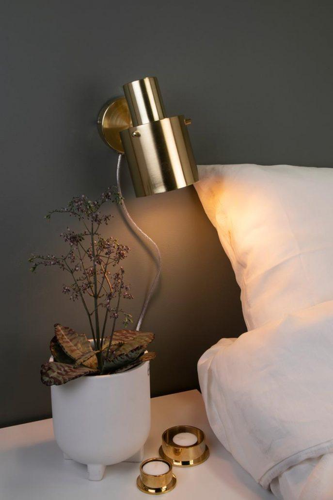 Nowoczesny zloty kinkiet Globen Lighting