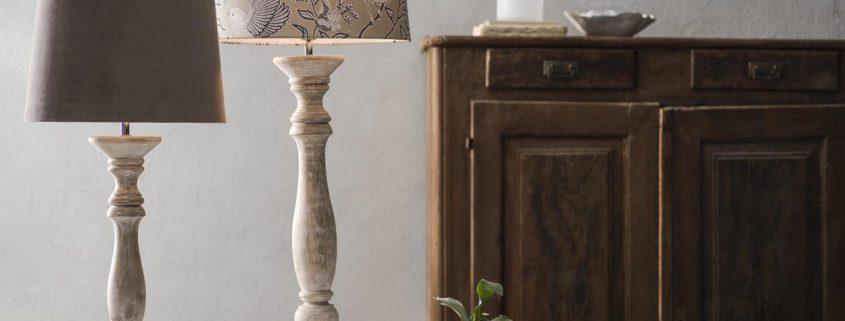 Drewniane lampy rustykalne stolowe Cottage PR Home - glowne