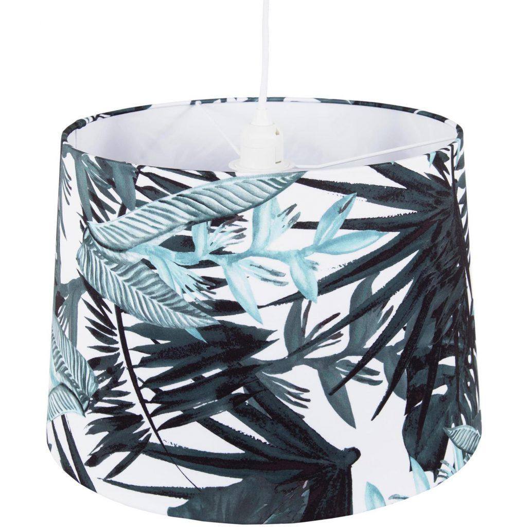 Lampa wiszaca abazurowa Bali liscie palmy