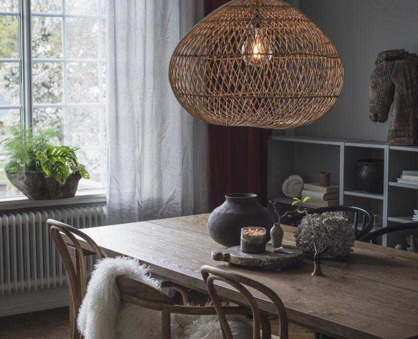 Lampa kula rattanowa Karen PR Home