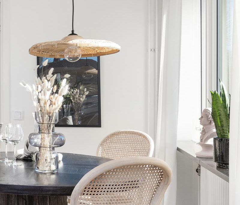Plaska lampa rattanowa Aruba Globen Lighting