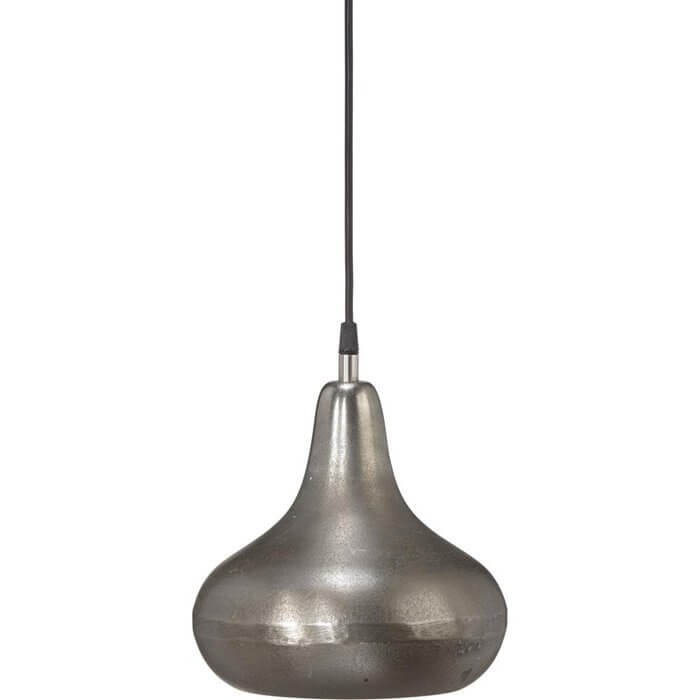 Industrialna lampa wisząca Kingston srebro 22cm