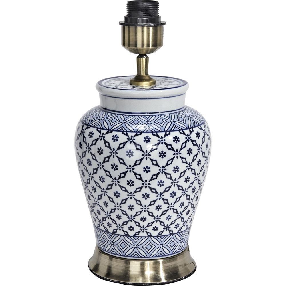 Ceramiczna Lampa Stołowa Mi 51cm Niebieska