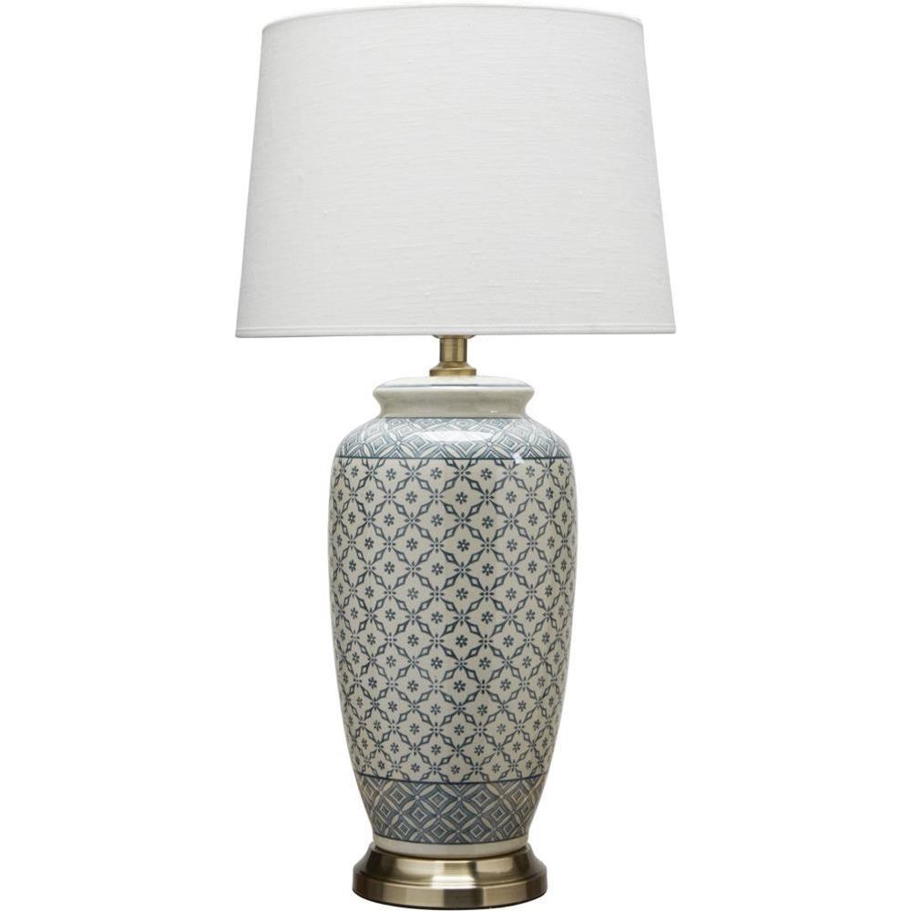 Ceramiczna Lampa Stołowa Lee 68cm Błękitna