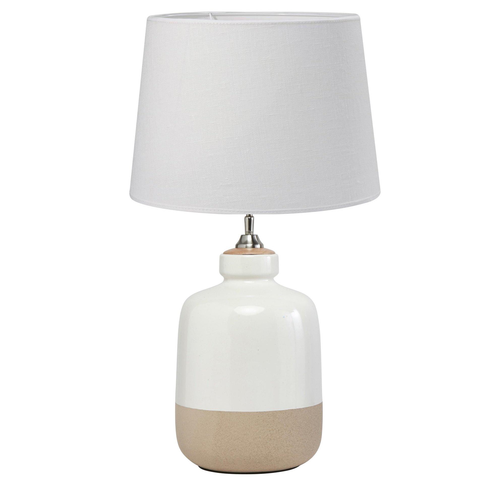 Ceramiczna Lampa Stołowa Lisbon 45cm Z Abażurem