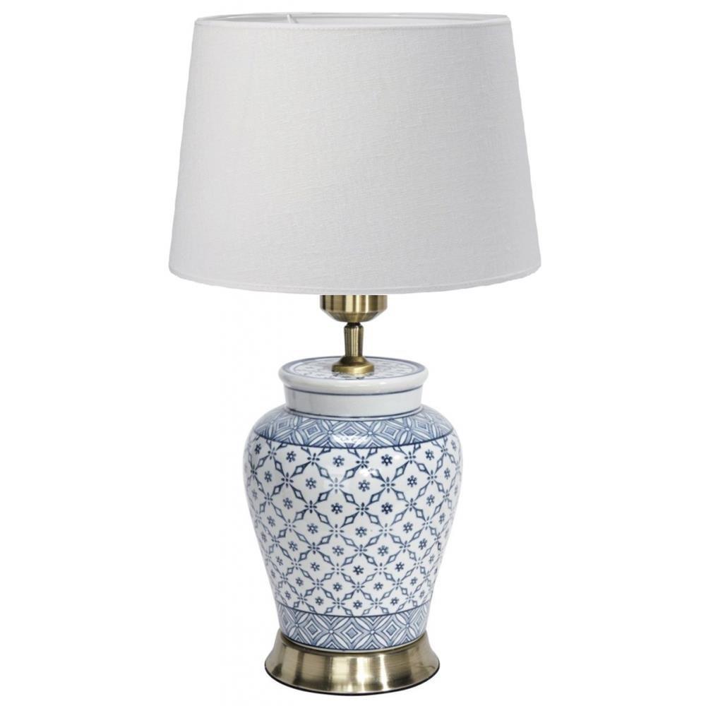 Ceramiczna Lampa Stołowa Mi 51cm Błękitna