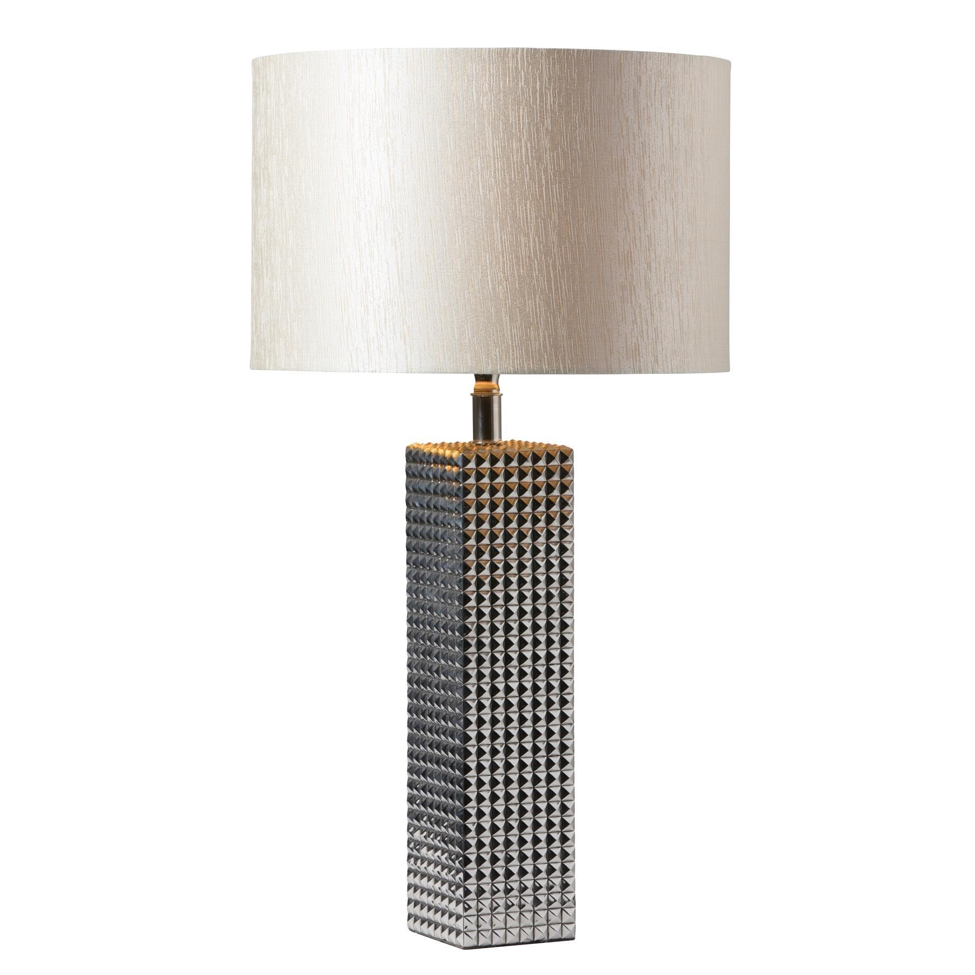 Duża Lampa Stołowa Lenny Chrom Podstawa Lampy